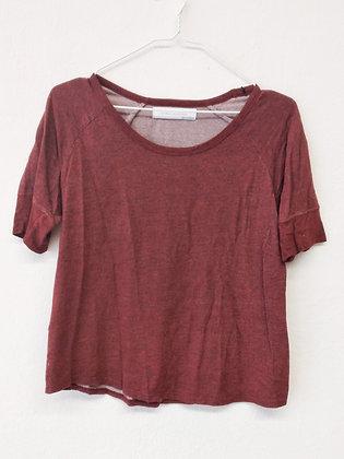 Vínové triko, ZARA, vel. M