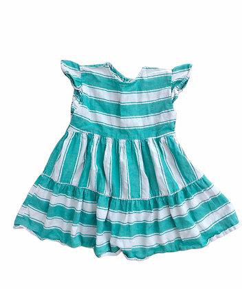 Pruhované šaty, 5-6 let