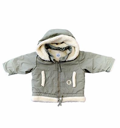 Khaki bunda s kapucou, H&M, vel. 4-6m