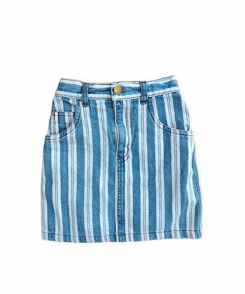 Pruhovaná džínová sukně, 5-6 let