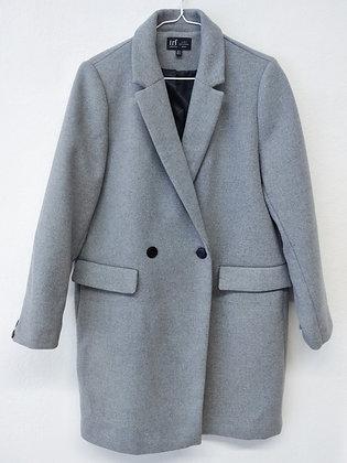 Šedý kabát, ZARA, vel. XL