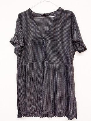Šaty s drobnými puntíčky, ZARA, vel. XL