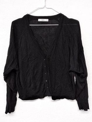 Černý svetr na knoflíčky, ZARA, vel. M