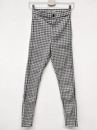 Kalhoty černobílá kostička , TOPSHOP, vel. 28/32