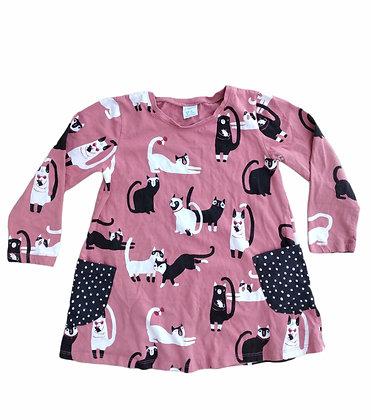 Šaty s kočičkama, LINDEX, vel. 4-5 let