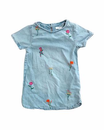 Šaty s vyšívanýma kytičkama, Next, vel. 3 roky