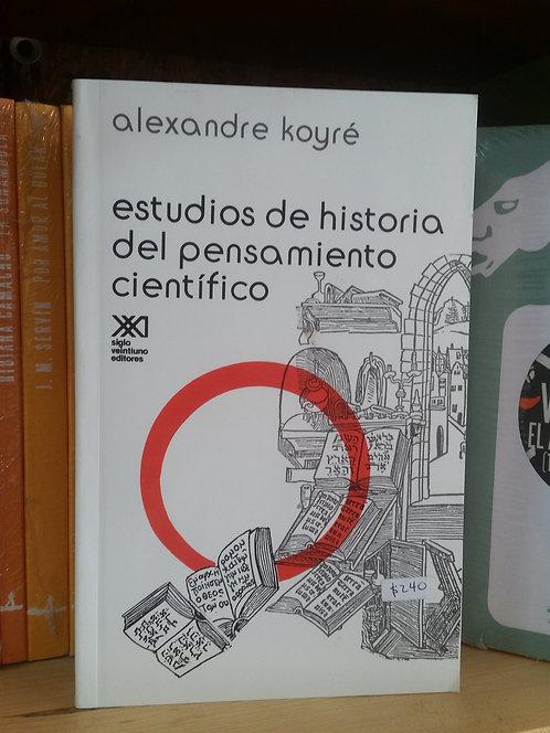 Estudios de historia del pensamiento científico