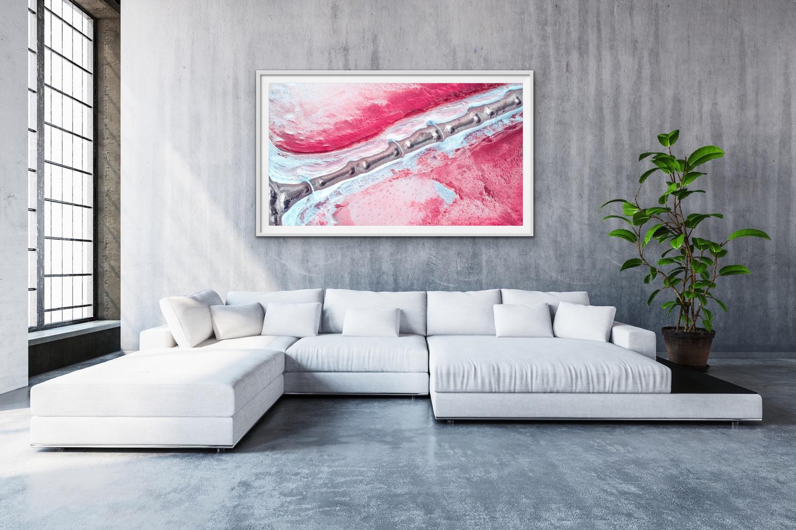 Pink Lake - Spine (Framed)