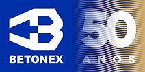 Logo Betonex Brasil 50 anos