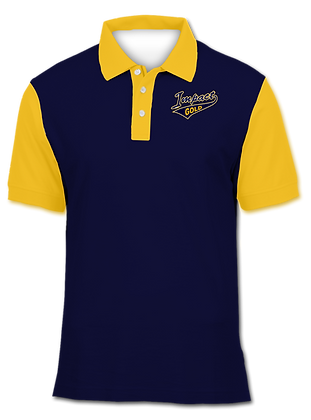 SOLID NAVY YELLOW POLO