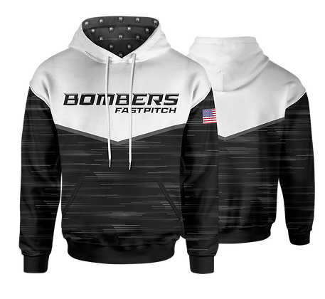 BOMBERS BLACK HEATHER HOODIES
