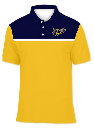 YELLOW NAVY TWO TONE POLO