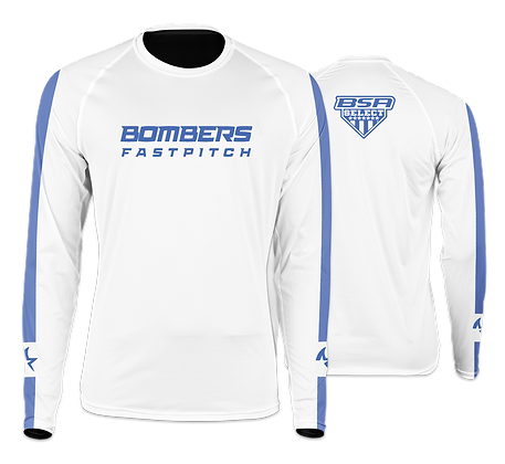 BOMBERS WHITE SHARK LONG SLEEVE