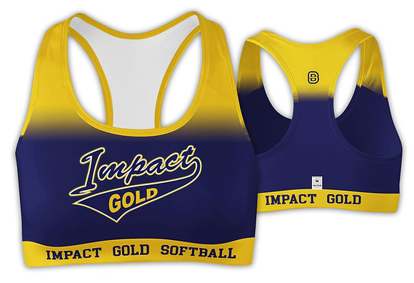 YELLOW NAVY FADE SPORTS BRA
