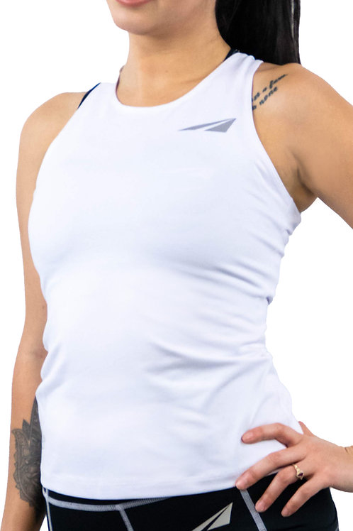 WHITE CONTRAST TANK TOP