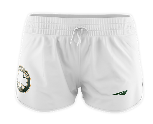 SHAMROCKS WHITE WOMAN'S SHORTS