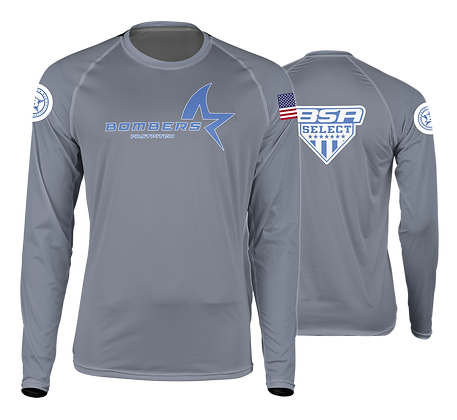 BOMBERS SILVER LONG SLEEVE