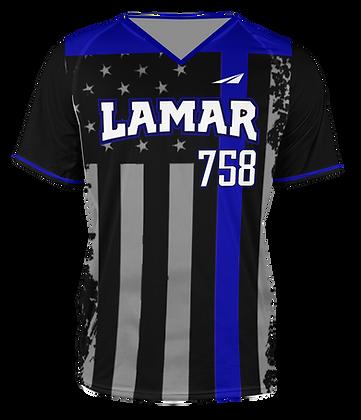 LAMAR BLACK THE BLUE JERSEY