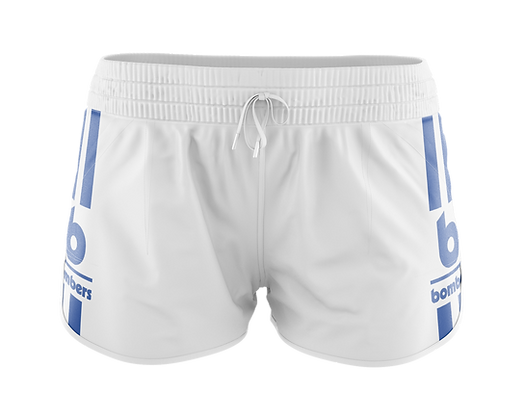 BOMBERS WHITE CAROLINA RETRO WOMEN'S SHORTS