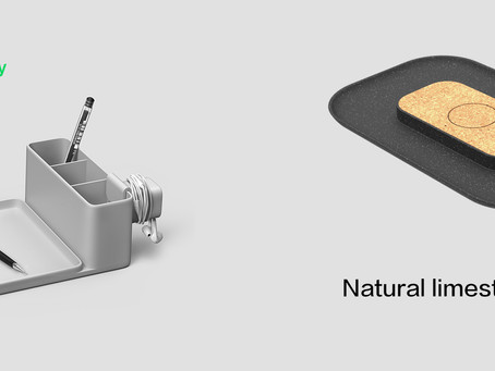 Eco-friendly material Bluetooth speaker/Wireless charger