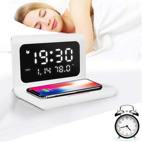 Alarm Clock Wireless Charger Bluetooth Speaker