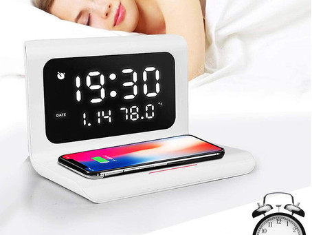 Alarm Clock Wireless Charger Bluetooth Speaker