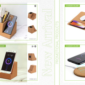 Cork wireless charger promotional products line
