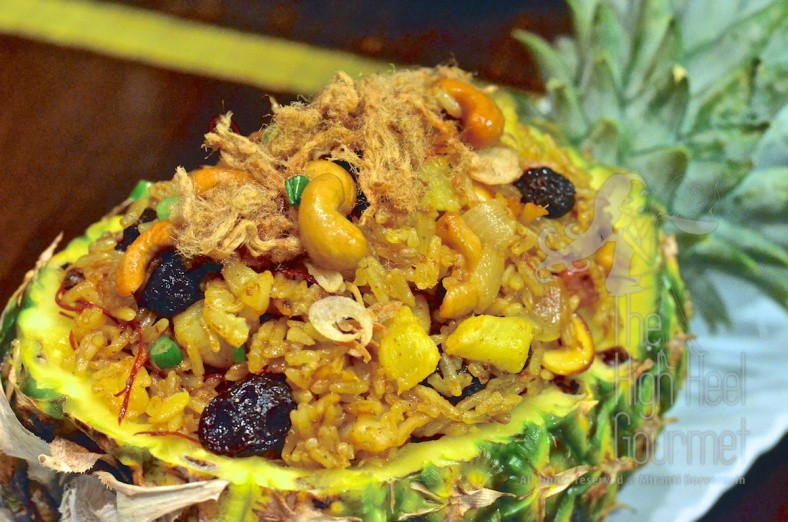 Pineapple yellow curry fried rice (whole pineapple not included)