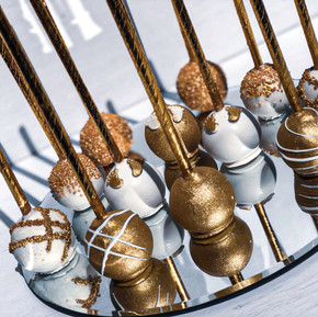 White & Gold Baby Shower Cakepops