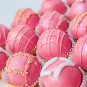 """Pink and Gold """"27"""" Cakeballs"""