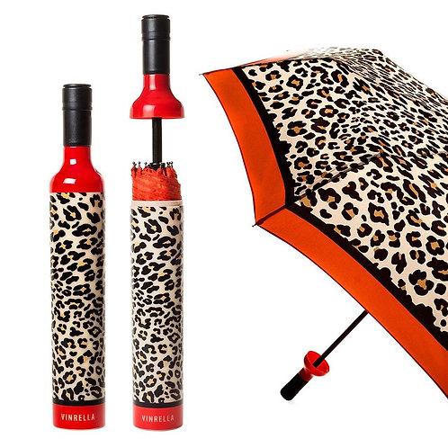 Wine Bottle Umbrella: Leopard