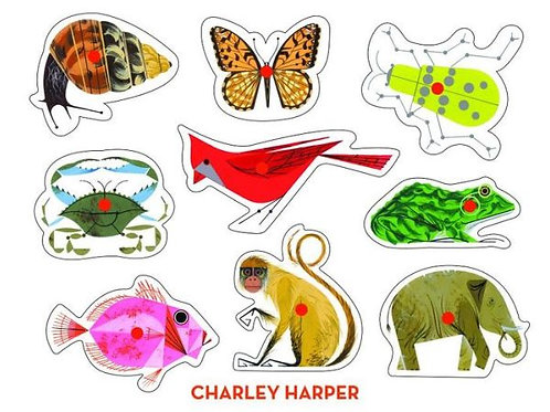 Charley Harper Classic Wooden Peg Puzzle