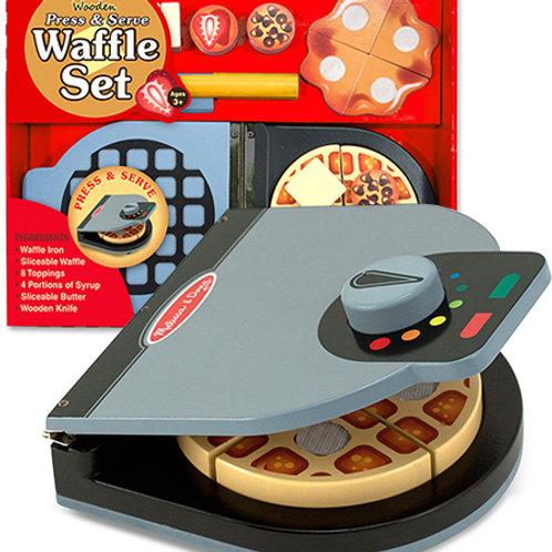 Wooden Press & Serve Waffle Set: Play House