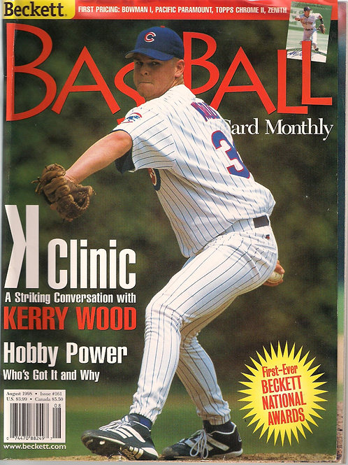 BECKETT Baseball Card Monthly Aug. 1998, #161
