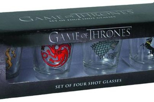 Game of Thrones : Set of Four Shot Glasses