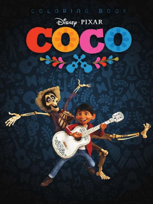 Coco: Coloring Book on Disney Pixar Coco Animation