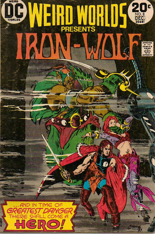 Weird Worlds Presents Iron-Wolf No. 8 Comic – 1973