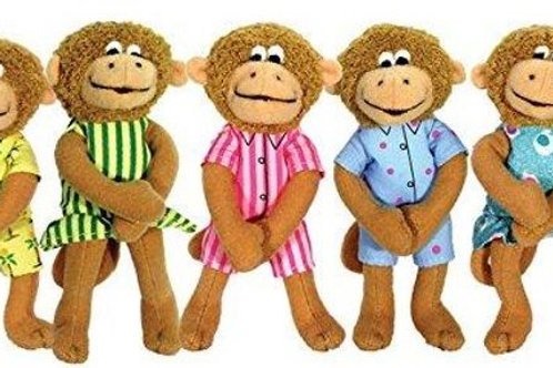 Five Little Monkeys Doll Finger Puppets