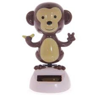 Solar Powered Dancing Monkey - Head and Arms Sway