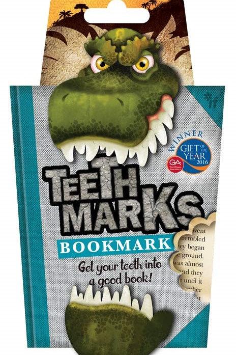Teeth-Marks Bookmarks - T-Rex