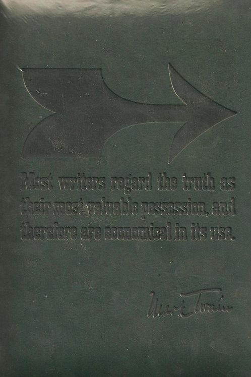 Eccolo Italian Leather Mark Twain Quote Journal