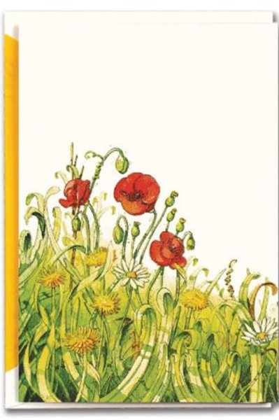 Field of Poppies: Blank Note Card