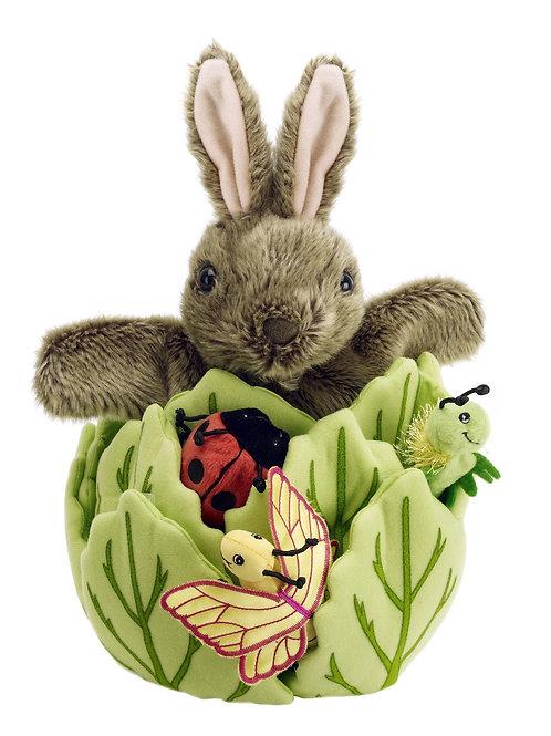 Hide-Away Puppets: Rabbit in a Lettuce
