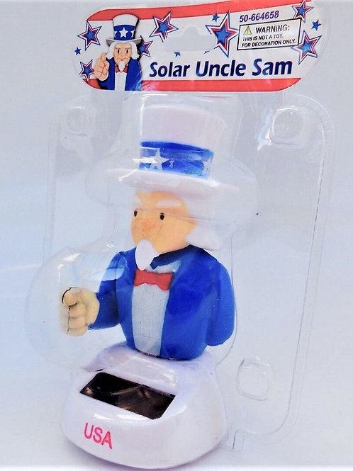 Solar Powered Dancing Uncle Sam-