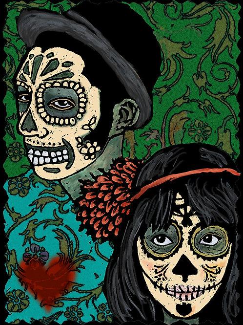 Couple - Dia De Los Muertos Greeting Cards