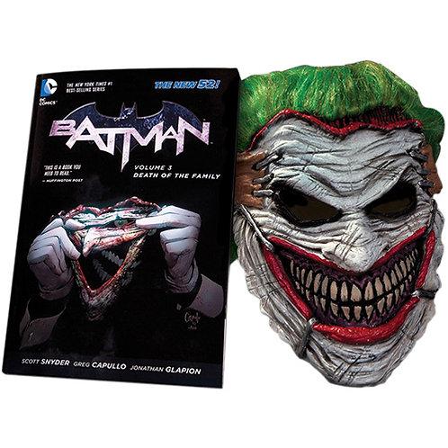 Batman: Death of The Family (Book/Joker Mask Set)