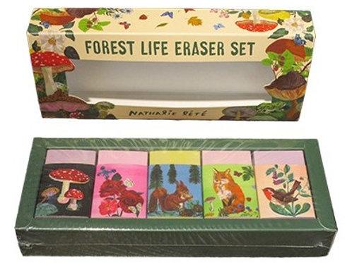 Forest Life Eraser Set