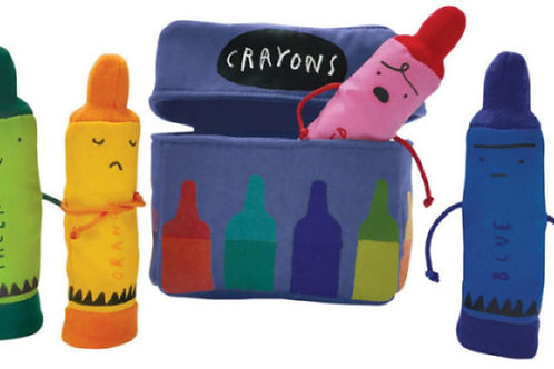 Day the Crayons Quit Finger Puppet Playset
