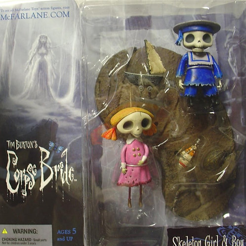 Corpse Bride: Skeleton Boy and Girl Figurines