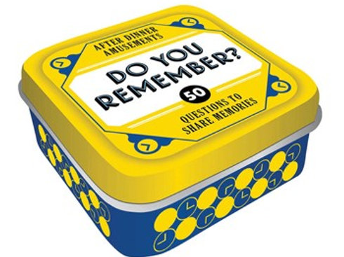After Dinner Amusements: Do You Remember?: 50 Questions to Share Memories